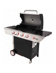 Barbecue à gaz avec plancha et grill