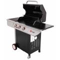 Barbecue à gaz avec couvercle de cuisson (Inox)