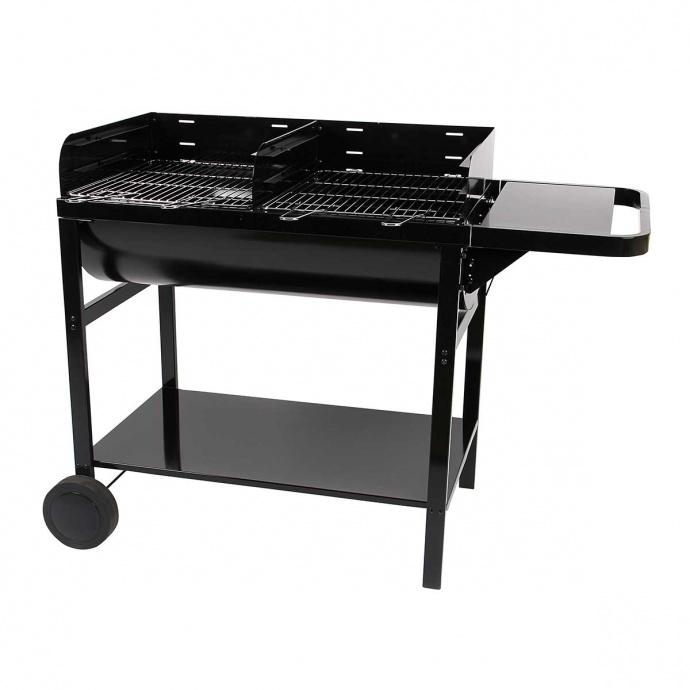 Barbecue à charbon de bois à 2 grilles (Noir)