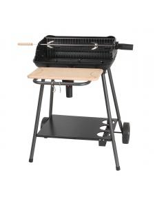 Barbecue à charbon de bois avec fonction rôtissoire