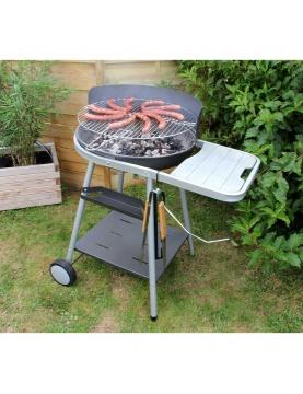 Barbecue à charbon de bois avec grille pivotante