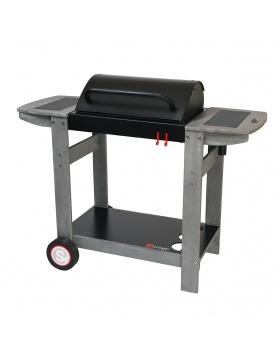 Barbecue au charbon avec grille de maintien au chaud