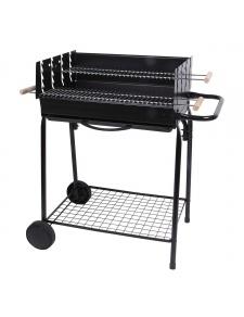 Barbecue à charbon avec 2 grilles en acier chromé