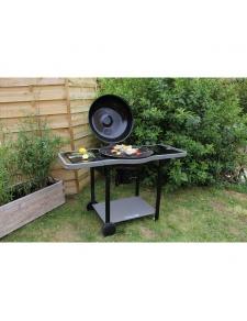 Barbecue à charbon avec couvercle de cuisson