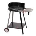 Barbecue à charbon de bois avec tablette intégrée (Noir)