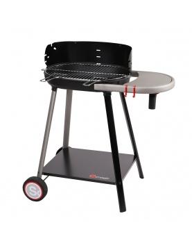 Barbecue à charbon de bois avec tablette intégrée