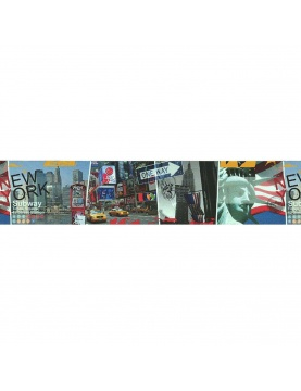 Frise adhésive LUTECE imprimée New York