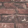 Papier peint LUTECE imprimé briques (Rouge)