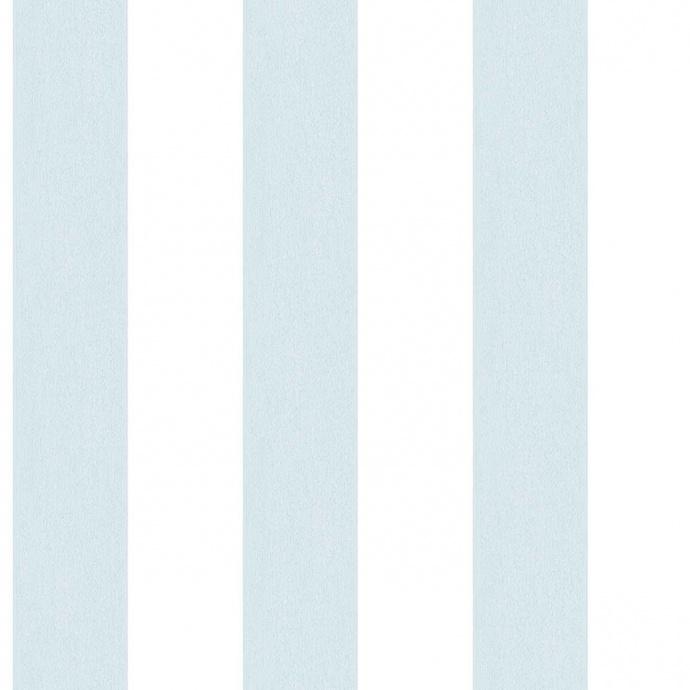 Papier peint LUTECE à rayures bicolores (Bleu/Blanc)