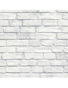 Papier peint LUTECE en briquettes blanches