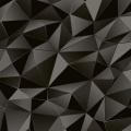 Papier peint LUTECE à losanges 3D (Noir)