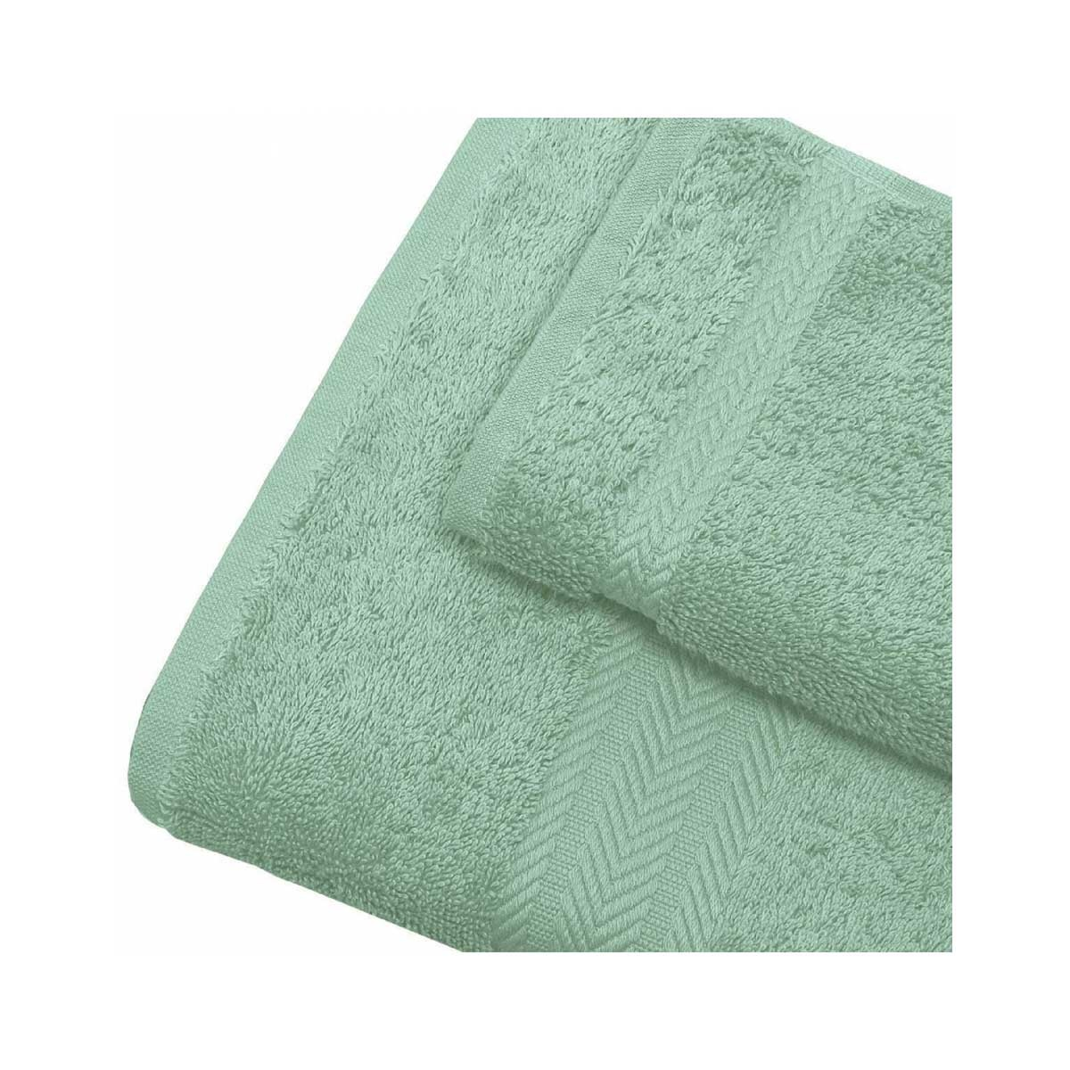Linge de bain en coton 550gr/m² céladon (Céladon)