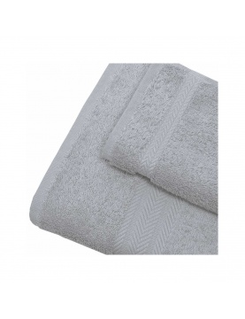 Linge de bain en coton 550gr/m² gris perle
