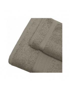 Linge de bain en coton 550gr/m² mastic