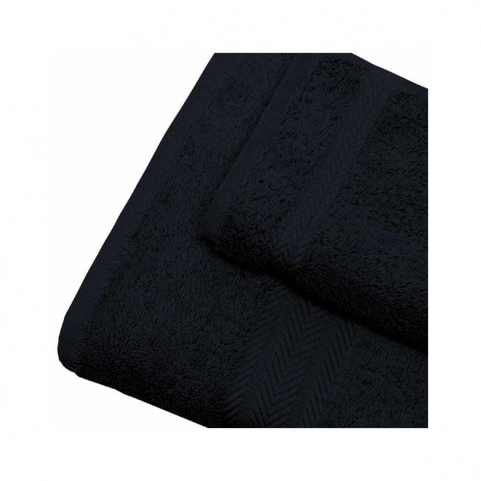 Linge de bain en coton 550gr/m² noir (Noir)
