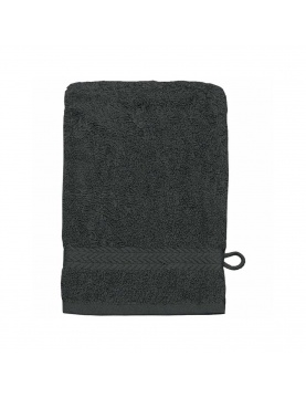 Lot de 3 Gants de toilette 16 x 22 cm en Coton couleur Anthracite
