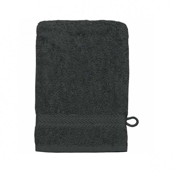 Gant de toilette 16 x 22 cm en Coton couleur Anthracite (Anthracite)