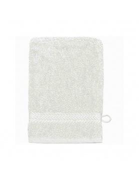 Lot de 3 Gants de toilette 16 x 22 cm en Coton couleur Blanc