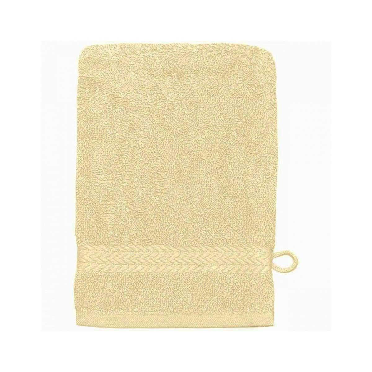 Gant de toilette 16 x 22 cm en Coton couleur Ecru (Ecru)