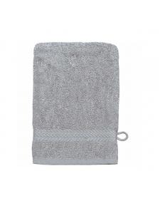 Gant de toilette 16 x 22 cm en Coton couleur Gris perle