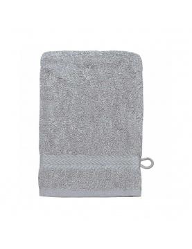 Lot de 3 Gants de toilette 16 x 22 cm en Coton couleur Gris perle