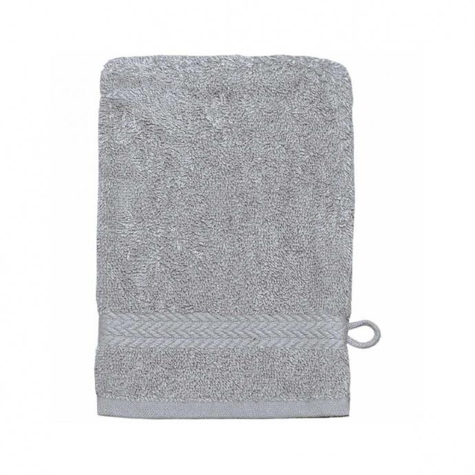 Gant de toilette 16 x 22 cm en Coton couleur Gris perle (Gris Perle)