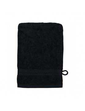 Lot de 3 Gants de toilette 16 x 22 cm en Coton couleur Noir