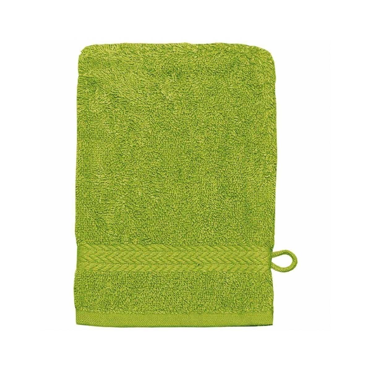 Gant de toilette 16 x 22 cm en Coton couleur Pomme (Pomme)