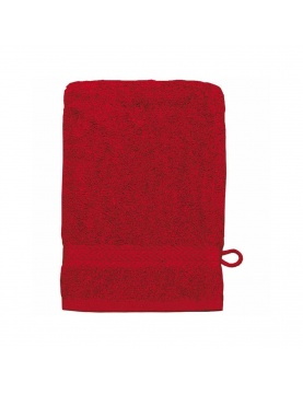 Gant de toilette 16 x 22 cm en Coton couleur Rubis