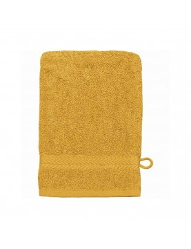 Gant de toilette en coton 550gr/m² safran