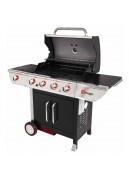 Barbecue à gaz avec tableau de bord en inox