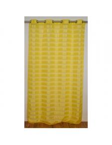 Voilage à rayures en coloris jaune