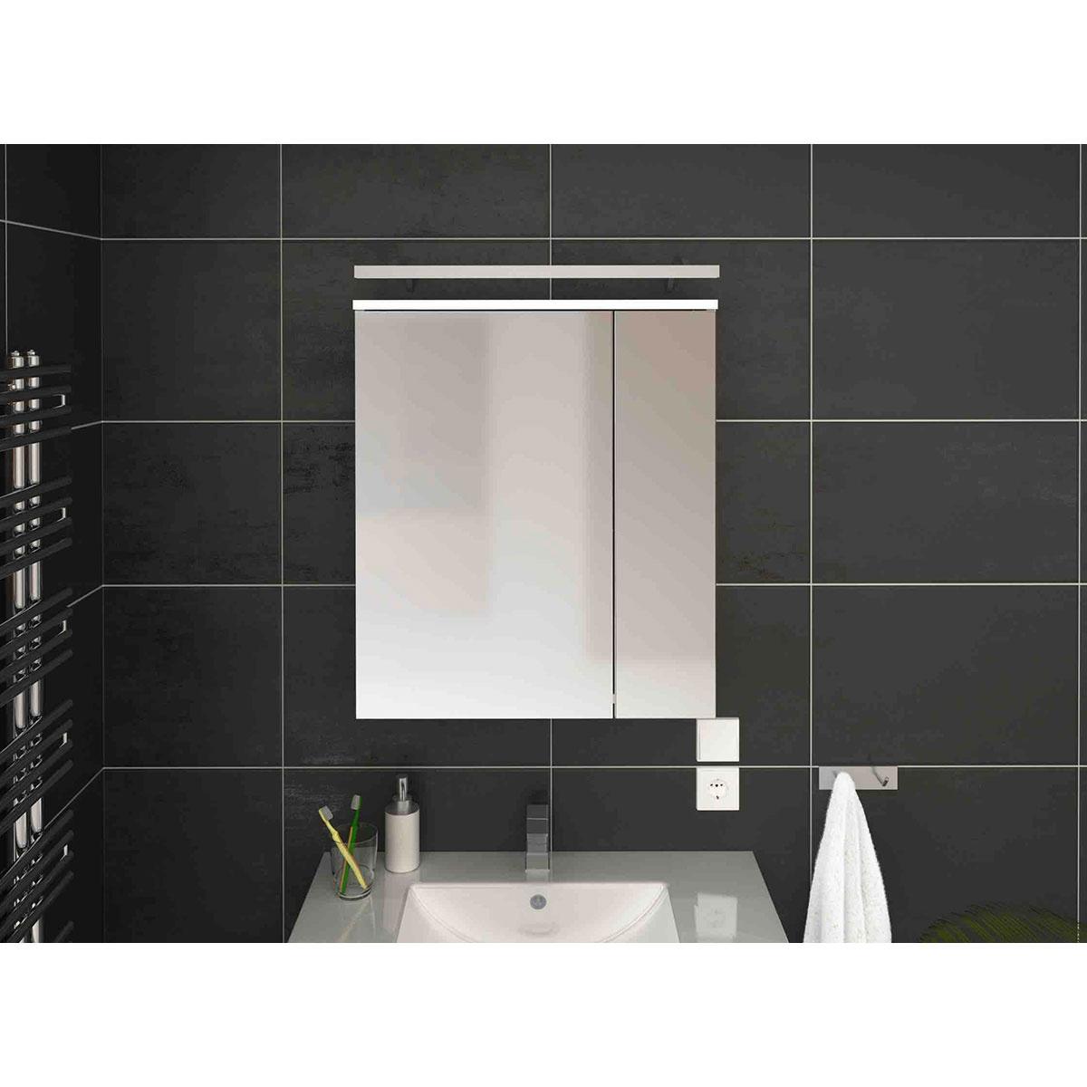 armoire pharmacie avec miroir blanc homebain vente en ligne meubles de salle de bain. Black Bedroom Furniture Sets. Home Design Ideas
