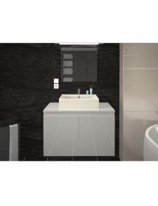 Meuble et vasque de salle de bain en 80 cm
