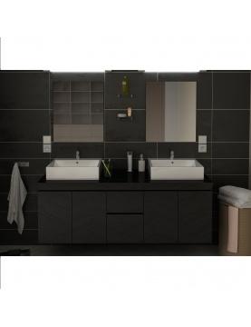 Meubles et vasques de salle de bain en 150 cm