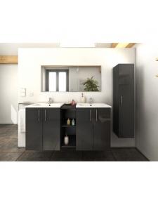 Ensemble vasques colonne et meuble en 120 cm