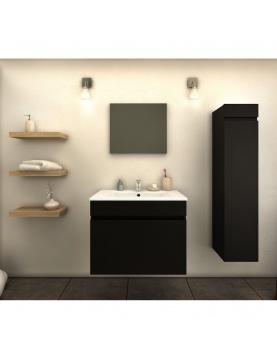 Ensemble vasque colonne et meuble en 60 cm