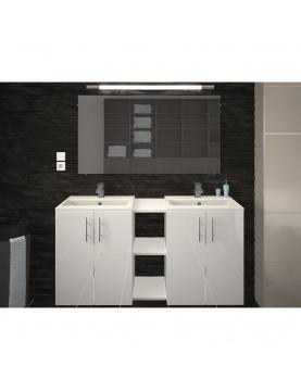 Vasque et meuble de salle de bain en 120 cm