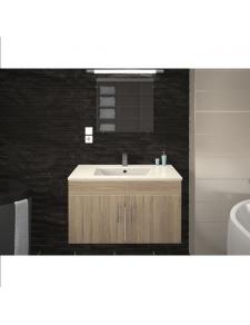 Vasque et meuble de salle de bain en 80 cm