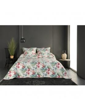 Colcha y funda de almohada flores salvajes