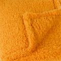 Plaid coloré effet mouton (Ocre)