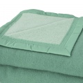 Couverture en 100% pure laine vierge 500g/m² (Amande/Tilleul)