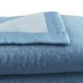 Couverture en 100% pure laine vierge (Myosotis/Ciel)