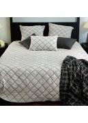 Dessus de lit réversible motif losange