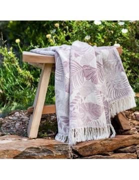 Plaid en coton avec motif fleur