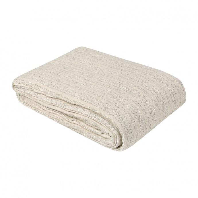 Dessus de lit en tissus jacquard (Ecru / Noir)