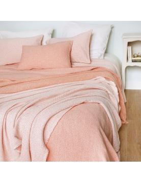 Dessus de lit réversible en tissu jacquard