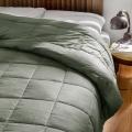Jeté de lit effet duvet (Galet)