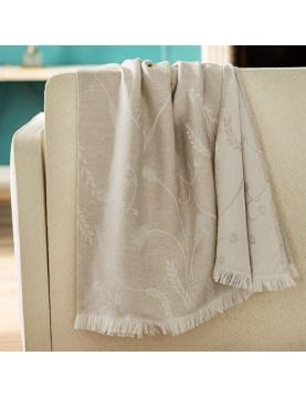 Plaid en lin et coton motif épis de blé