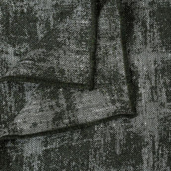 Plaid en laine et lin  (Bleu Paon)